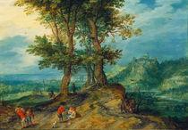 J.Brueghel d.Ae., Weg zum Markt by AKG  Images