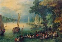 J.Brueghel d.Ae., Flusslandschaft by AKG  Images