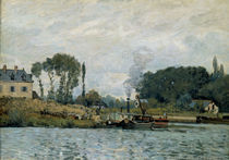 A.Sisley, Schiffe an Schleuse Bougival by AKG  Images