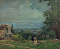 C.Pissarro, Landschaft bei Louveciennes von AKG  Images
