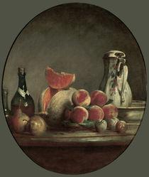 J.B.S.Chardin, Angeschnittene Melone von AKG  Images