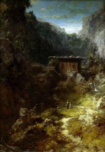 C.Spitzweg, Muehle im Gebirge mit 3 Fig. von AKG  Images