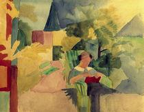 A.Macke, Garten mit lesender Frau von AKG  Images