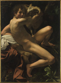 Caravaggio, Johannes der Taeufer by AKG  Images