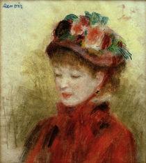 A.Renoir, Junge Frau mit Blumenhut von AKG  Images