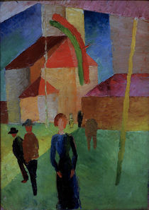August Macke, Beflaggte Kirche by AKG  Images