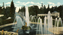 Peterhof, Schlosspark / Photochrom by AKG  Images