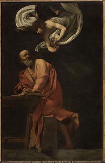 Caravaggio, Inspiration des Matthaeus by AKG  Images
