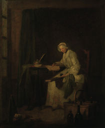 J.B.S.Chardin, Das Haushaltungsbuch by AKG  Images