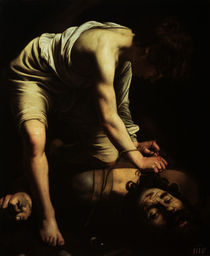 Caravaggio, David besiegt Goliath by AKG  Images