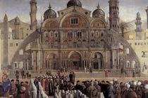 G.Bellini, Predigt des Markus, Ausschn. by AKG  Images