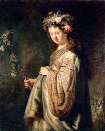 Rembrandt, Saskia als Flora by AKG  Images
