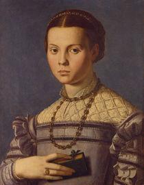 A.Bronzino, Junges Maedchen mit Buch by AKG  Images