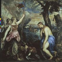 Tizian, Spanien hilft Religion/ 1566-75 von AKG  Images