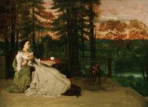 G.Courbet, Dame auf der Terrasse by AKG  Images