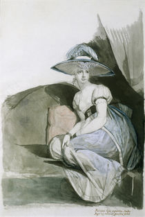 J.H.Fuessli, Mrs. Fuseli in Sofecke by AKG  Images