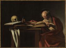Caravaggio, Der schreibende Hieronymus by AKG  Images