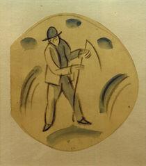 August Macke, Schnitter/Entwurf f.Teller von AKG  Images
