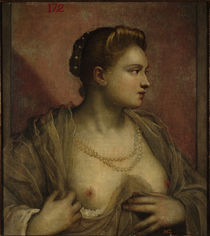 Tintoretto, Frau mit entbloesster Brust by AKG  Images