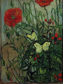 van Gogh, Schmetterlinge auf Mohnblueten von AKG  Images
