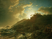 A.Achenbach,Sonnenuntergang nach Sturm.. by AKG  Images