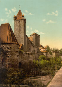 Nuernberg, Burg / Luginsland / Photochrom by AKG  Images