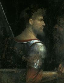 Giorgione, Krieger mit altem Mann von AKG  Images