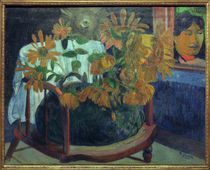 P.Gauguin, Sonnenblumen auf Armstuhl by AKG  Images
