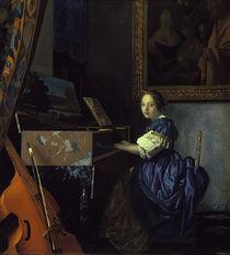 Vermeer, Sitzende Virginalspielerin von AKG  Images