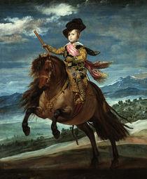 Baltasar Carlos zu Pferde / Velazquez by AKG  Images