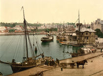 Flensburg, Hafen / Photochrom by AKG  Images