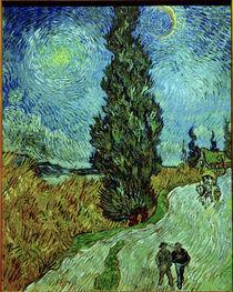 Van Gogh, Zypresse gegen Sternenhimmel von AKG  Images
