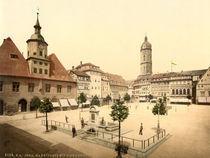 Jena, Markt u.Bismarckbrunnen/Photochrom von AKG  Images
