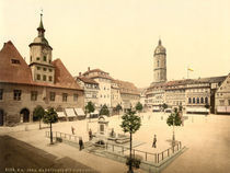Jena, Markt u.Bismarckbrunnen/Photochrom by AKG  Images