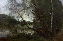 C.Corot, Teich mit ueberhaengendem Baum by AKG  Images