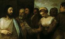 Tizian, Christus u. Ehebrecherin von AKG  Images