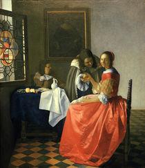 Vermeer, Das Maedchen mit dem Weinglas von AKG  Images