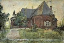 C.Larsson, Die alte Kirche von Sundborn von AKG  Images