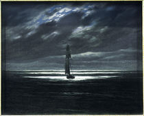 C.D.Friedrich, Seestueck bei Mondschein von AKG  Images