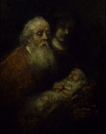 Rembrandt, Simeon mit Jesusknabe by AKG  Images