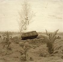 C.D.Friedrich, Sarg auf frischem Grab von AKG  Images