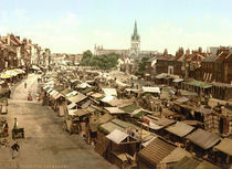Yarmouth, Markt / Photochrom von AKG  Images