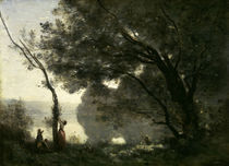 Camille Corot, Erinnerung an Mortefont. by AKG  Images