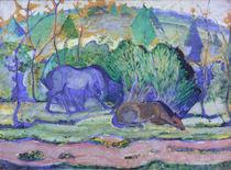 Franz Marc, Pferde auf der Weide von AKG  Images