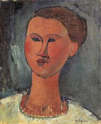 A.Modigliani, Kopf einer Frau von AKG  Images