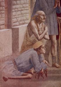 Masaccio, Petrus heilt.., Ausschnitt von AKG  Images