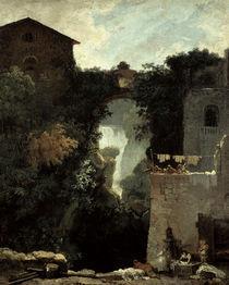 J.H.Fragonard, Wasserfaelle bei Tivoli von AKG  Images