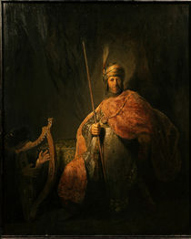 Rembrandt, David vor Saul die Harfe sp. by AKG  Images