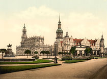 Dresden, Hofkirche u. Schloss /Photochrom by AKG  Images