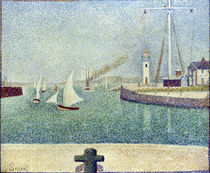 Georges Seurat, Entree du port de Honfl. by AKG  Images